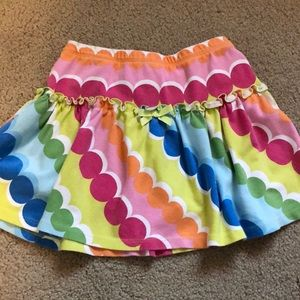Gymboree skirt w/ built in shorts -Rainbow circles